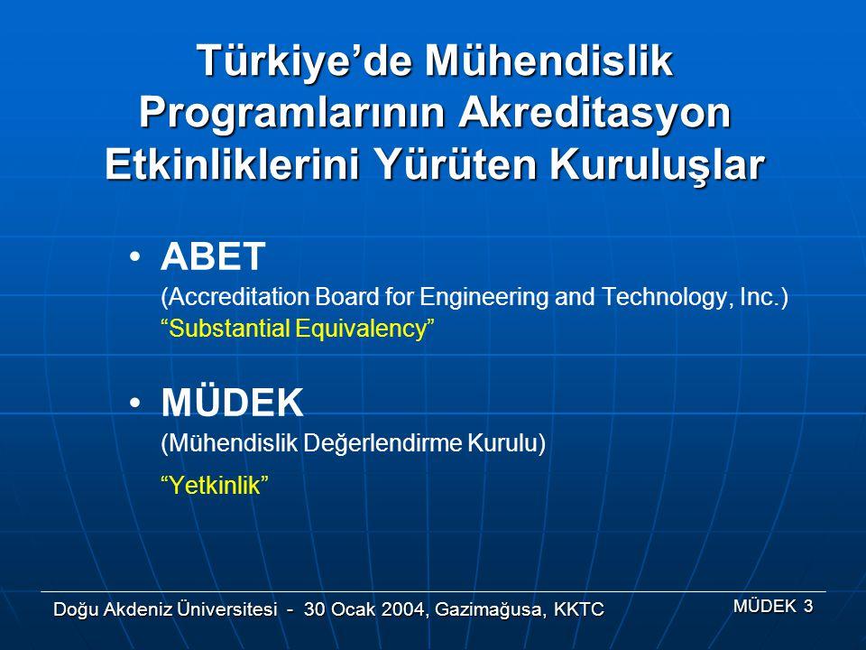 Türkiye'de Mühendislik Programlarının Akreditasyon Etkinliklerini Yürüten Kuruluşlar