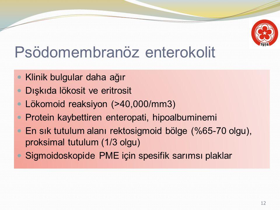 Psödomembranöz enterokolit