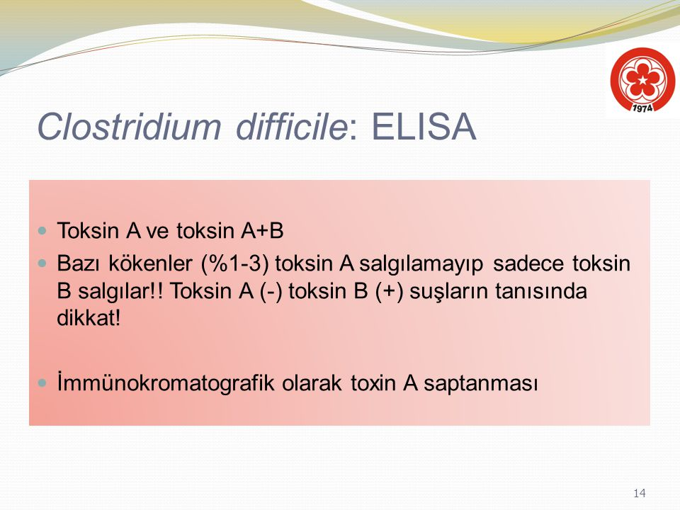 Clostridium difficile: ELISA