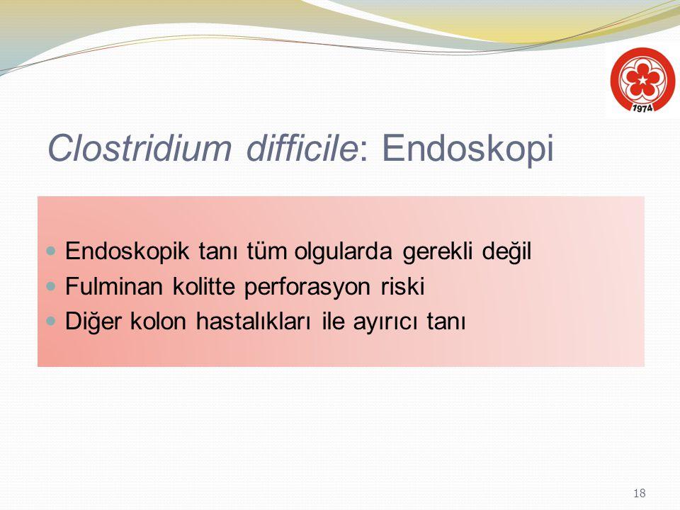 Clostridium difficile: Endoskopi