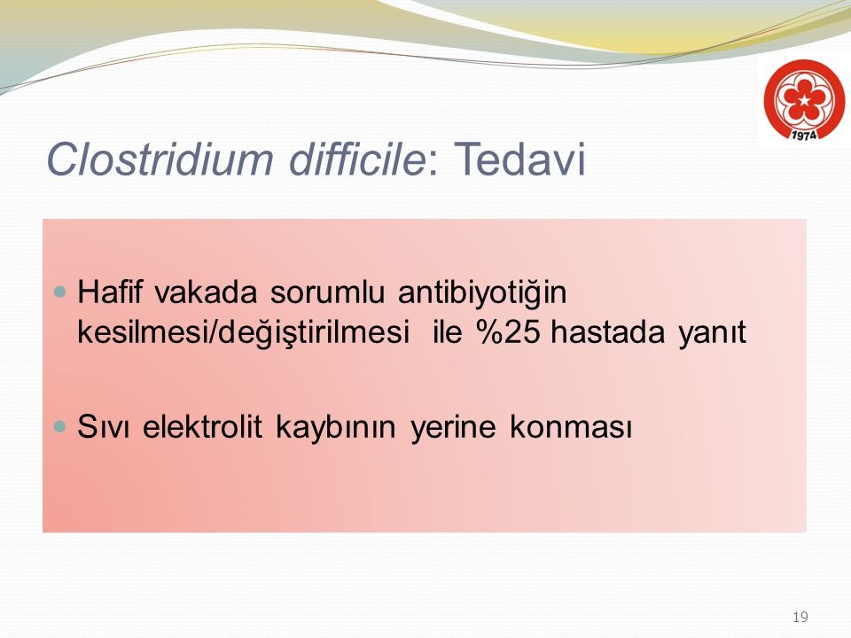 Clostridium difficile: Tedavi