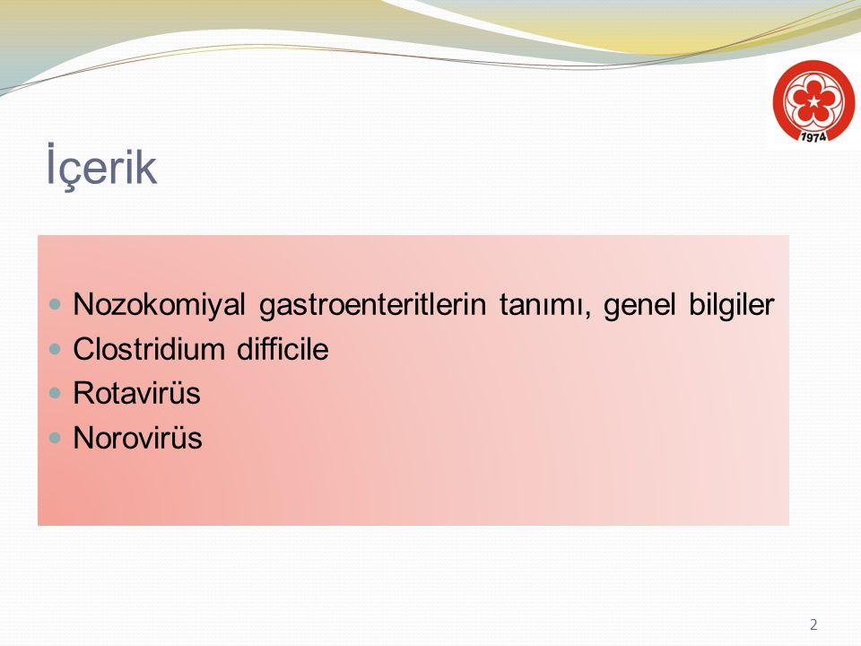 İçerik Nozokomiyal gastroenteritlerin tanımı, genel bilgiler