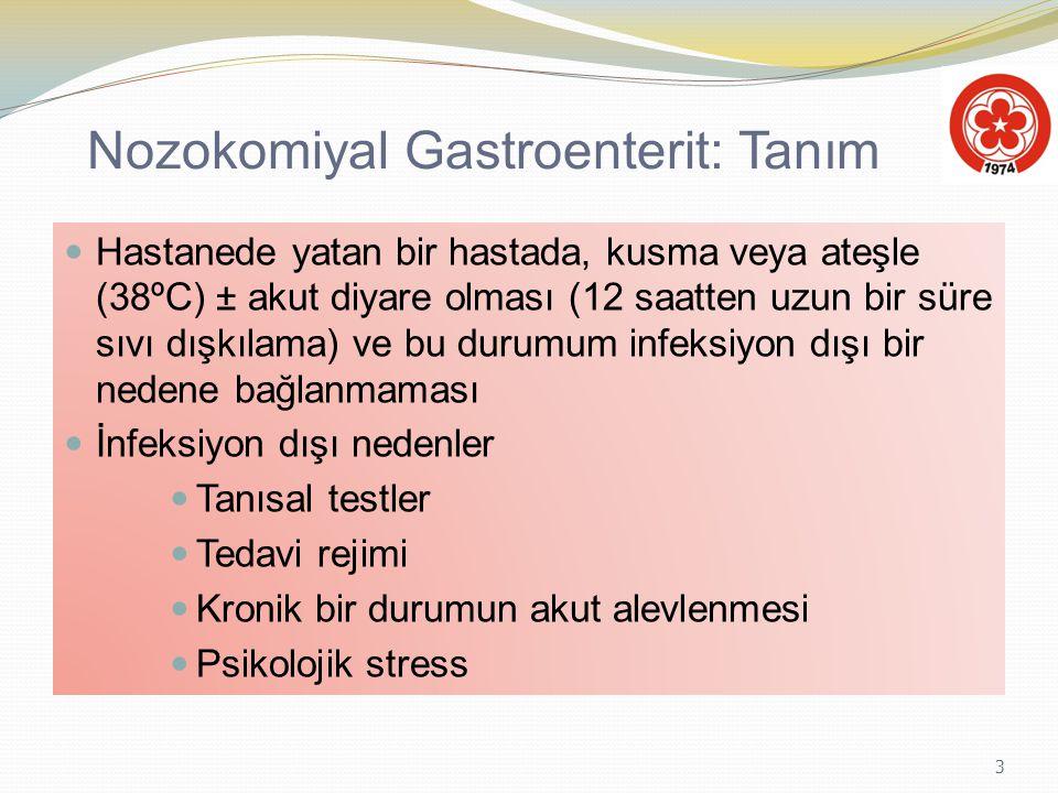 Nozokomiyal Gastroenterit: Tanım