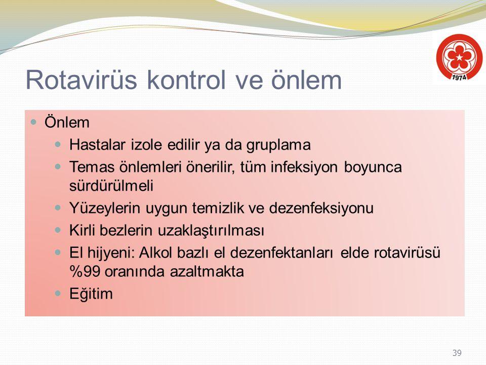 Rotavirüs kontrol ve önlem