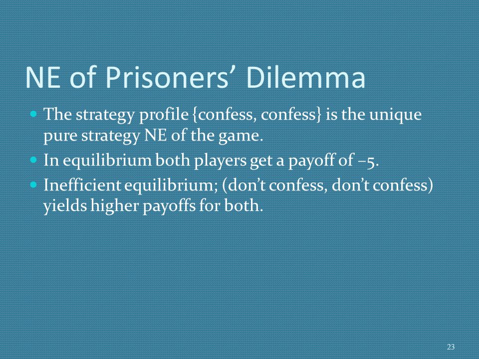 NE of Prisoners' Dilemma