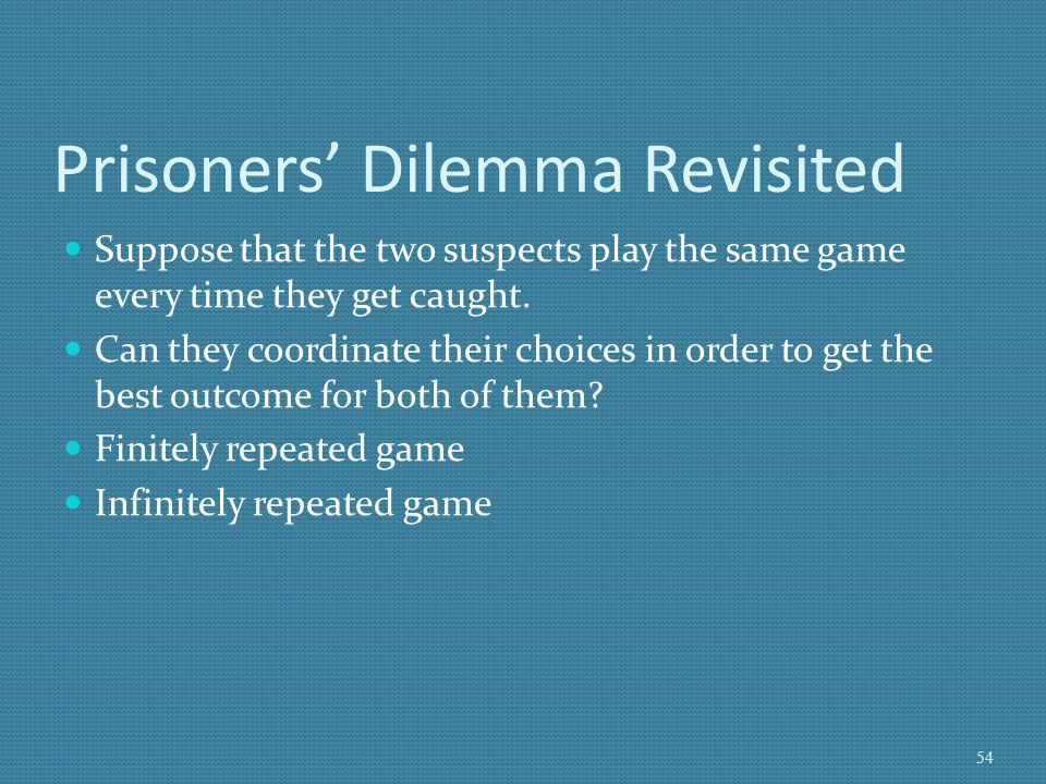 Prisoners' Dilemma Revisited