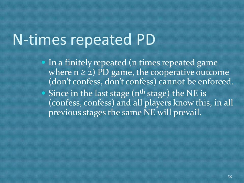 N-times repeated PD