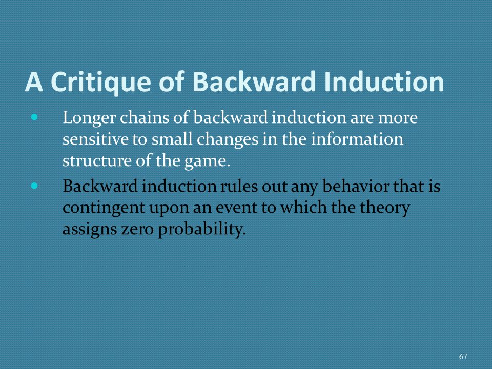 A Critique of Backward Induction