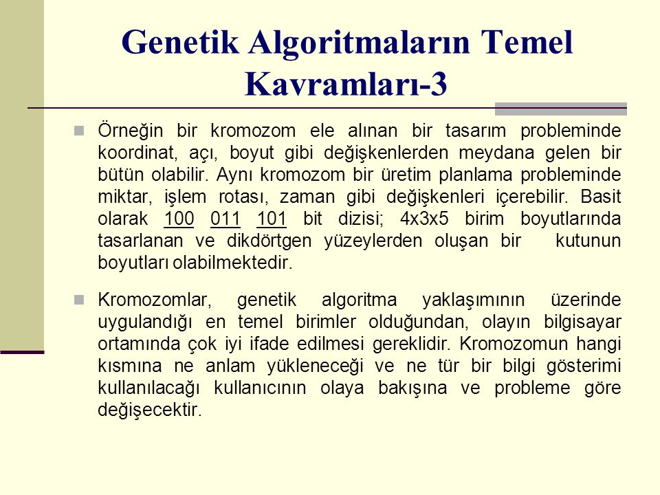 Genetik Algoritmaların Temel Kavramları-3