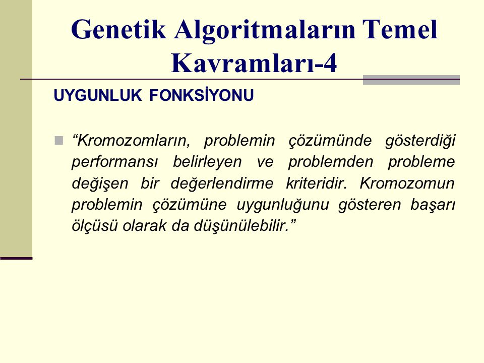 Genetik Algoritmaların Temel Kavramları-4