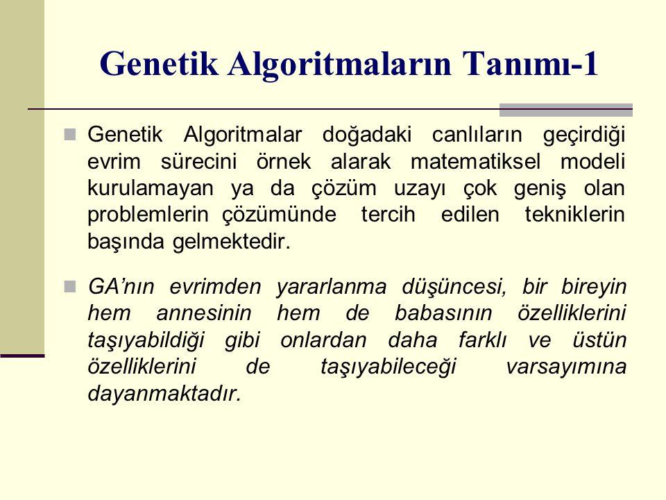 Genetik Algoritmaların Tanımı-1