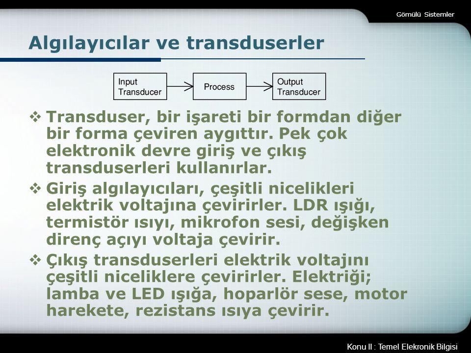 Algılayıcılar ve transduserler