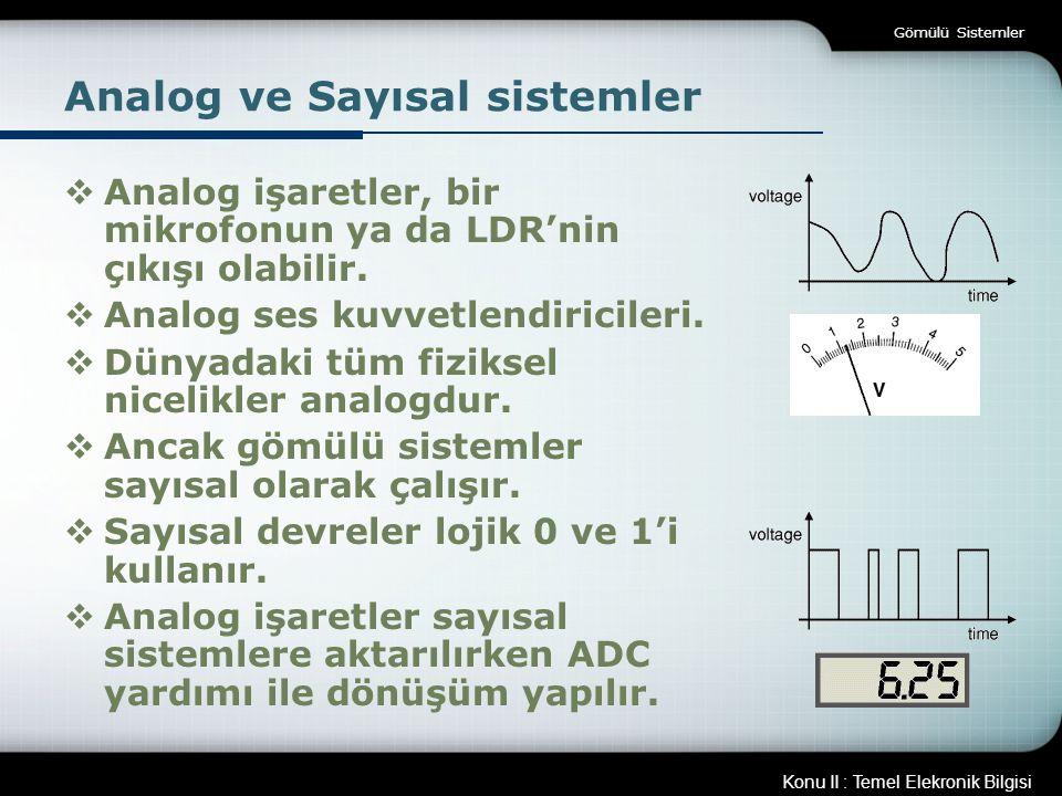 Analog ve Sayısal sistemler