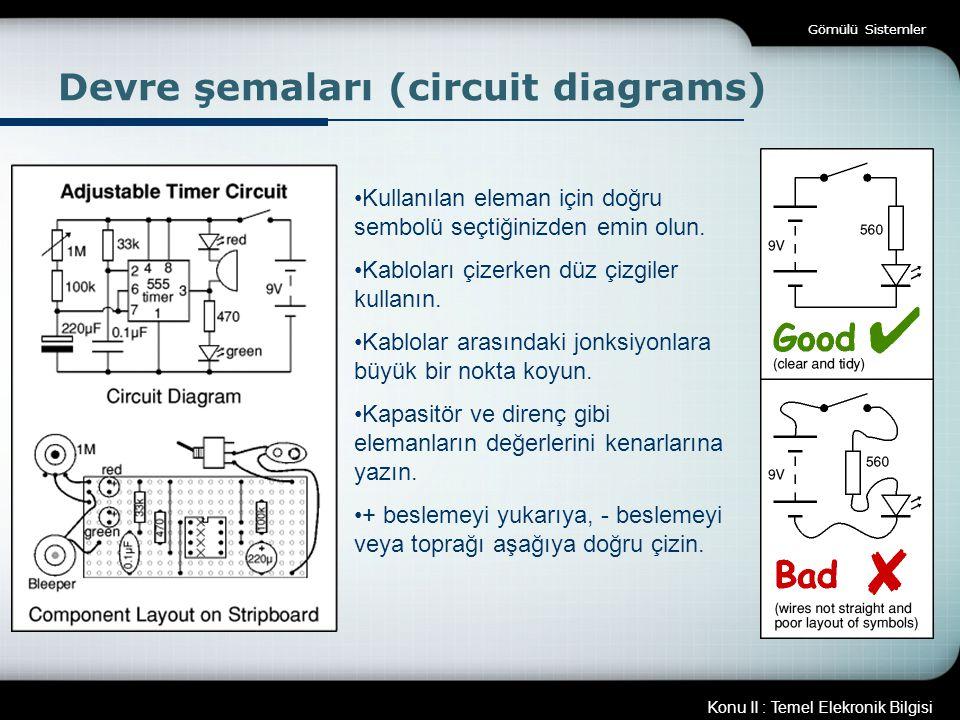 Devre şemaları (circuit diagrams)