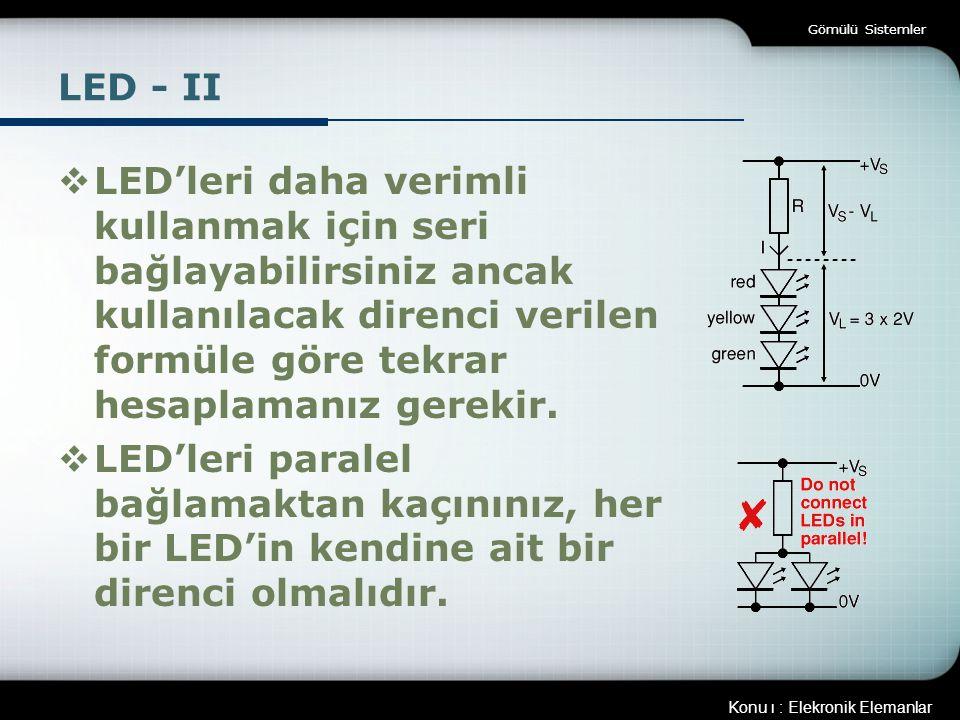 Gömülü Sistemler LED - II.