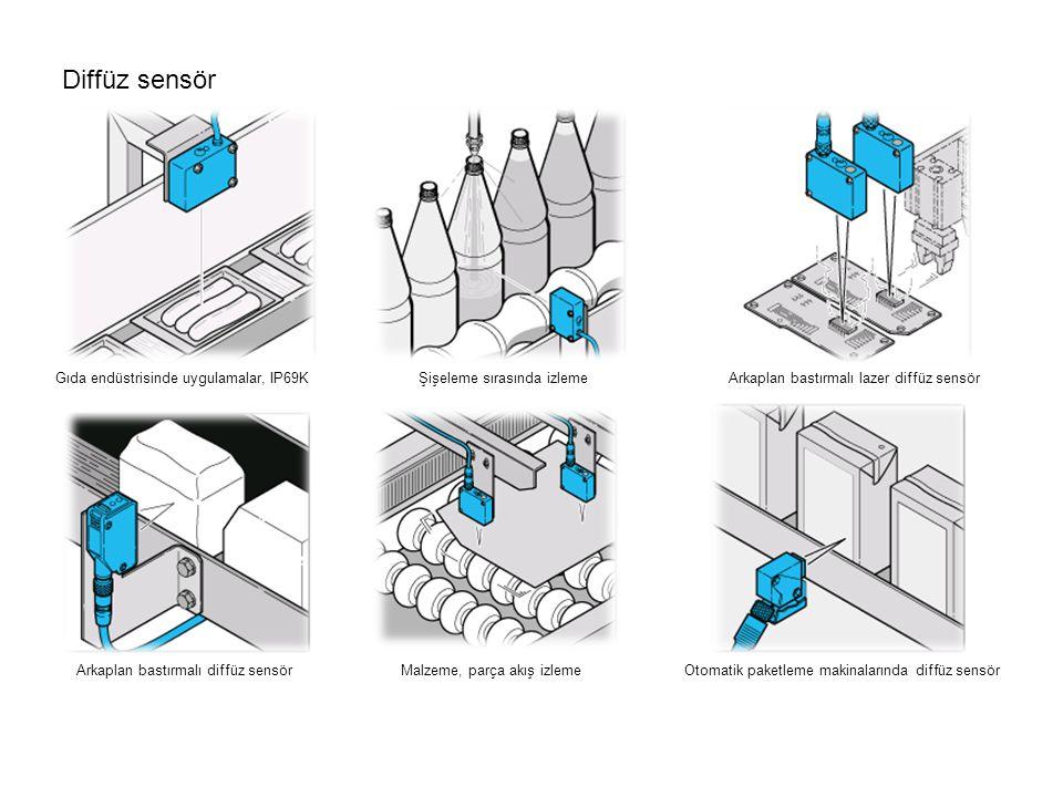 Diffüz sensör Gıda endüstrisinde uygulamalar, IP69K