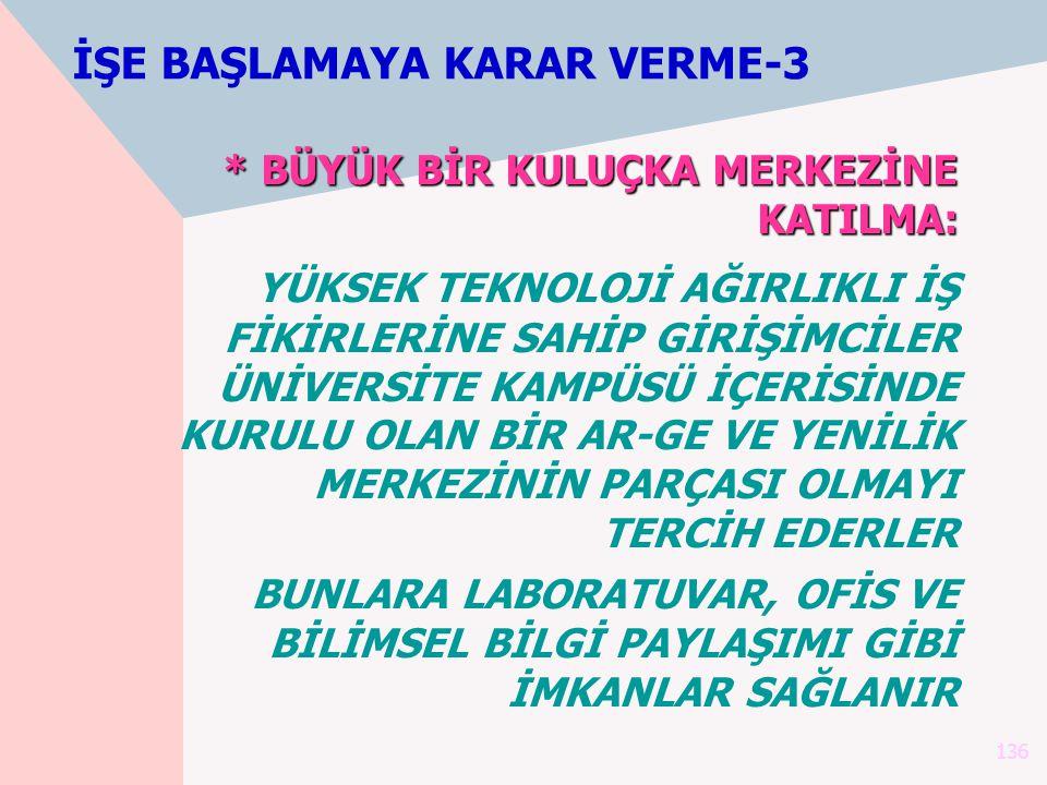 İŞE BAŞLAMAYA KARAR VERME-3