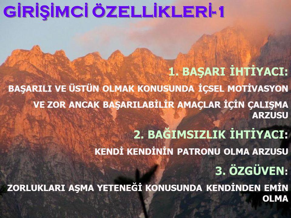 GİRİŞİMCİ ÖZELLİKLERİ-1