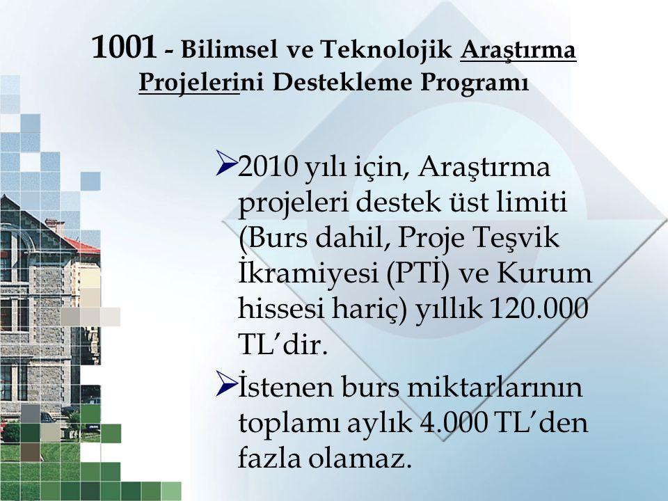 1001 - Bilimsel ve Teknolojik Araştırma Projelerini Destekleme Programı