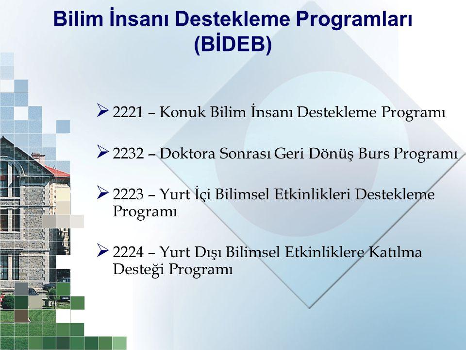 Bilim İnsanı Destekleme Programları (BİDEB)