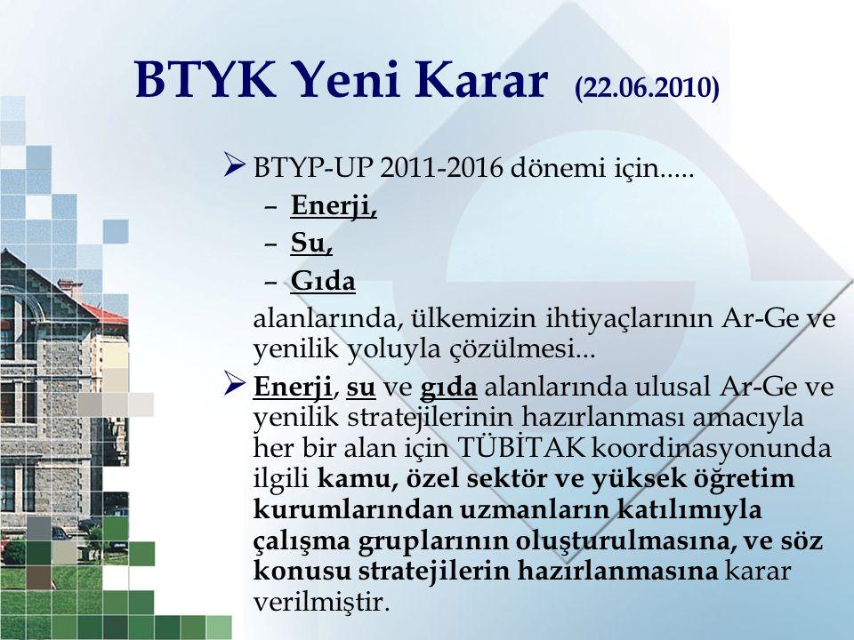 BTYK Yeni Karar (22.06.2010) BTYP-UP 2011-2016 dönemi için.....