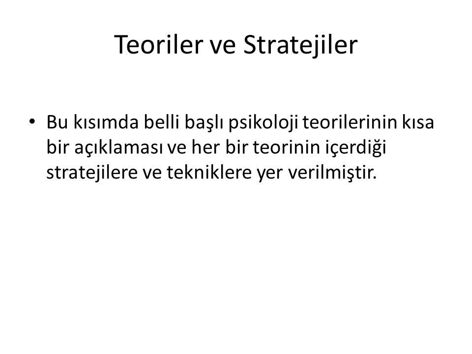 Teoriler ve Stratejiler