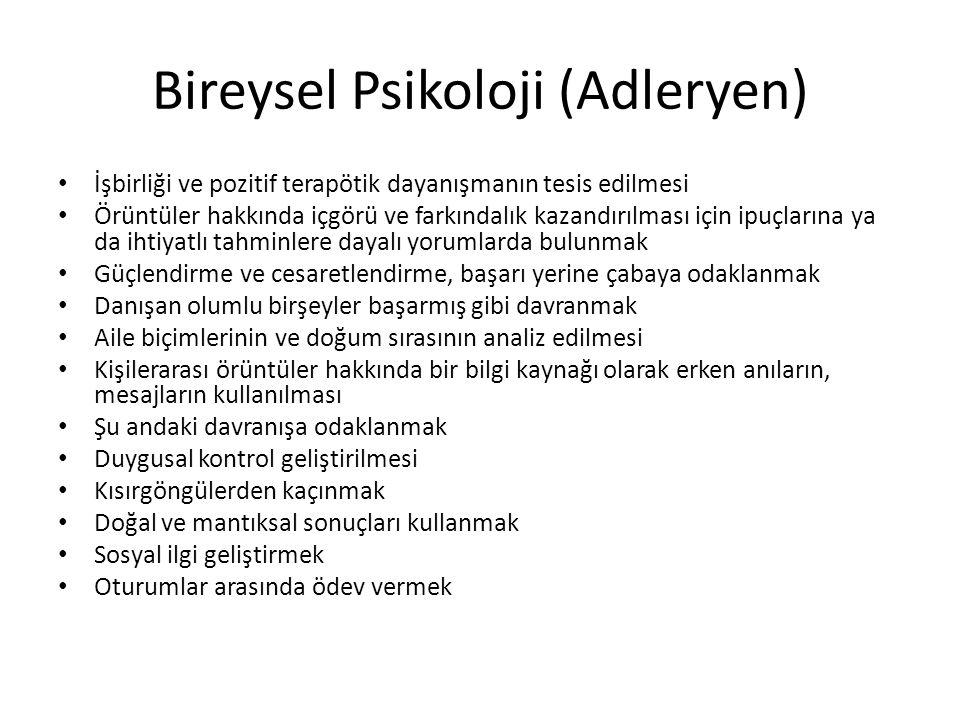 Bireysel Psikoloji (Adleryen)
