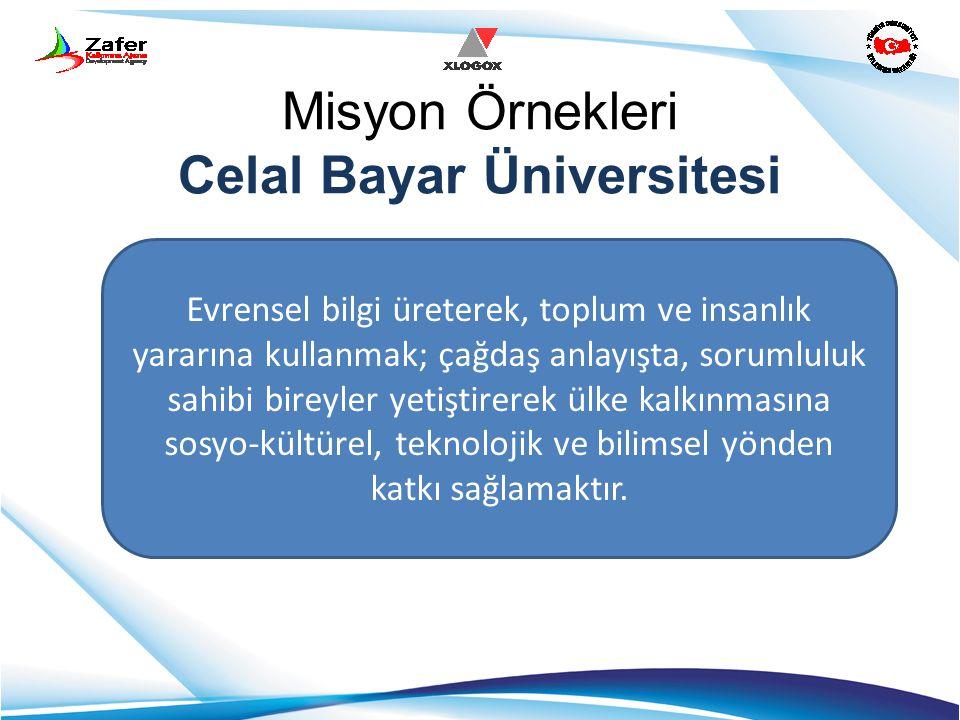 Misyon Örnekleri Celal Bayar Üniversitesi