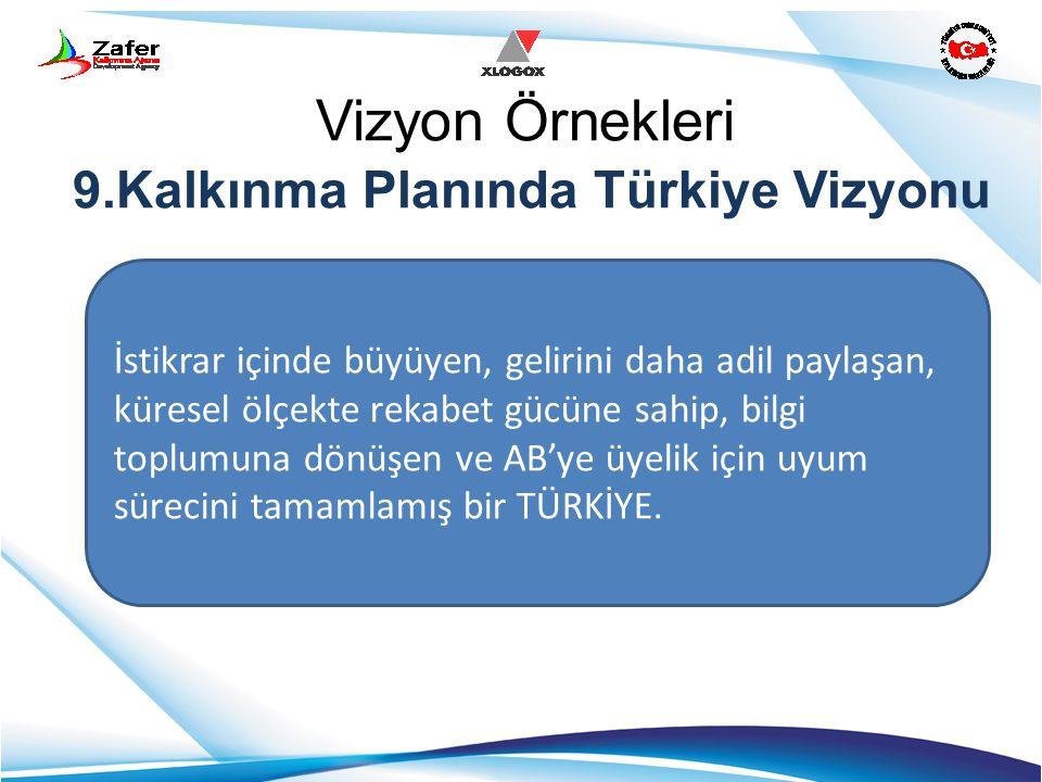 Vizyon Örnekleri 9.Kalkınma Planında Türkiye Vizyonu