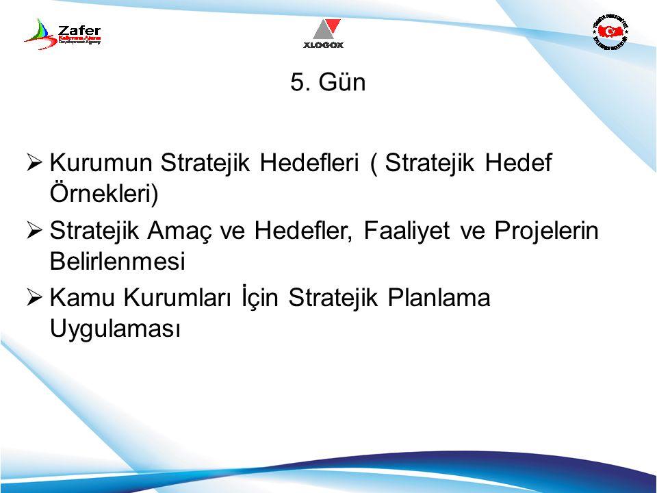 5. Gün Kurumun Stratejik Hedefleri ( Stratejik Hedef Örnekleri) Stratejik Amaç ve Hedefler, Faaliyet ve Projelerin Belirlenmesi.