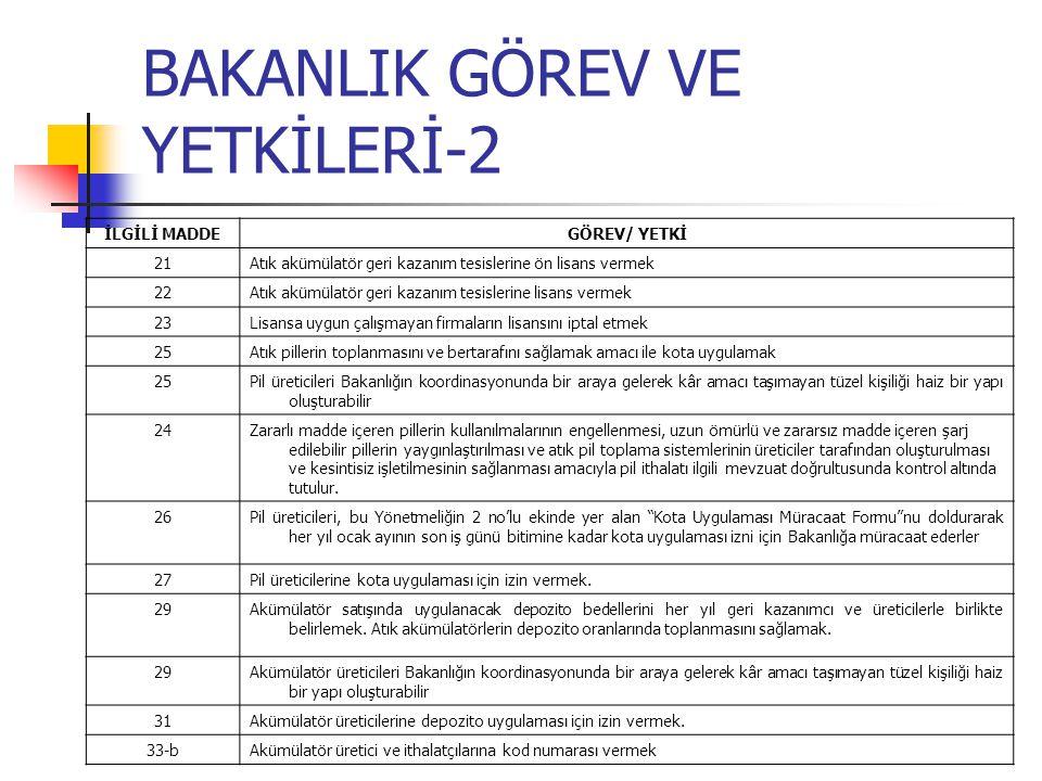 BAKANLIK GÖREV VE YETKİLERİ-2