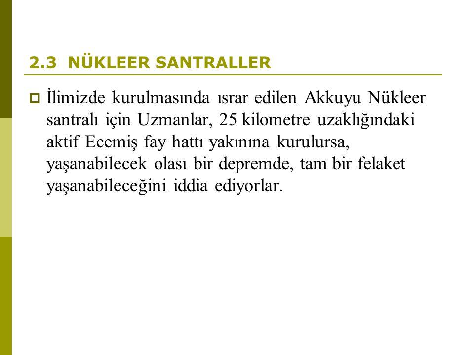 2.3 NÜKLEER SANTRALLER