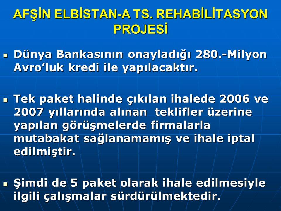 AFŞİN ELBİSTAN-A TS. REHABİLİTASYON PROJESİ