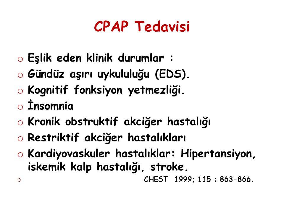 CPAP Tedavisi Eşlik eden klinik durumlar :