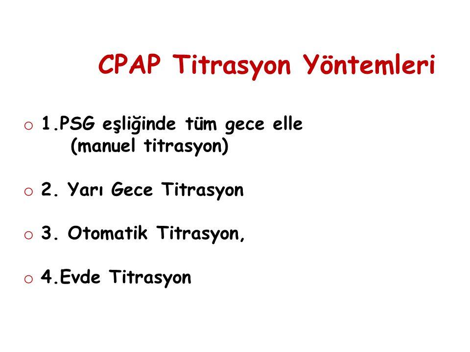 CPAP Titrasyon Yöntemleri