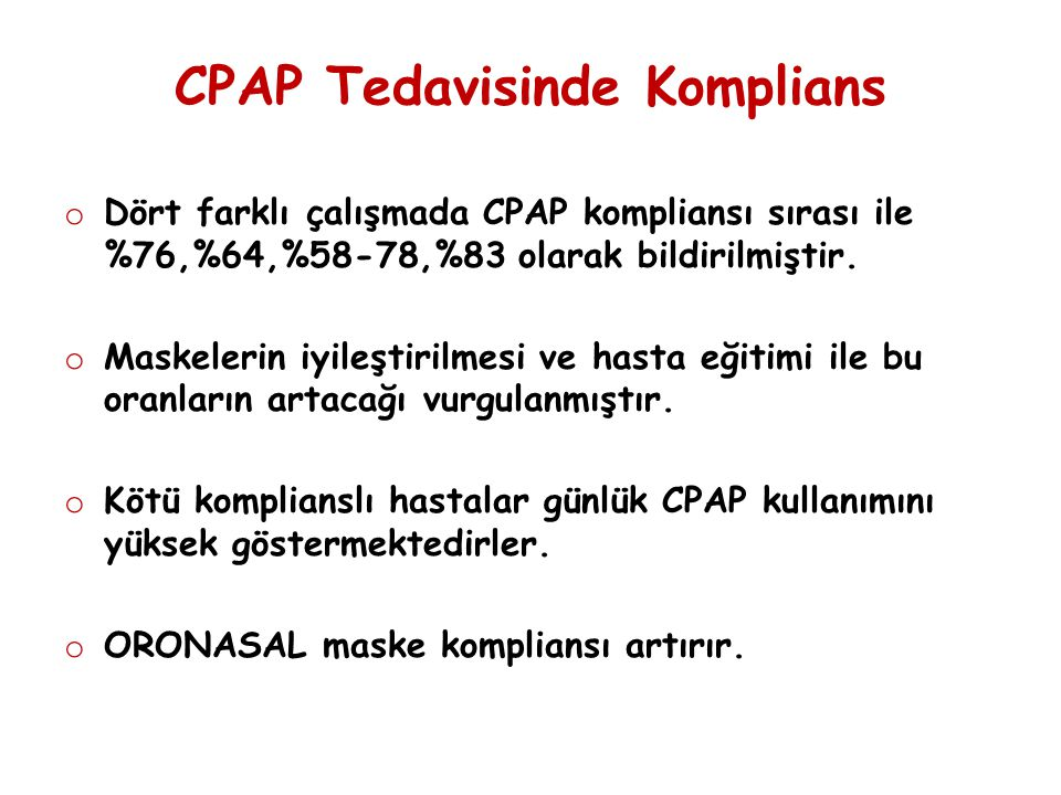 CPAP Tedavisinde Komplians