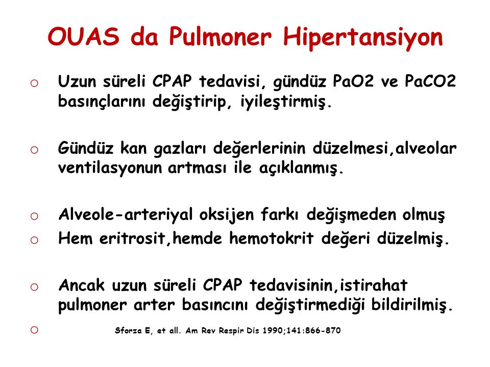 OUAS da Pulmoner Hipertansiyon