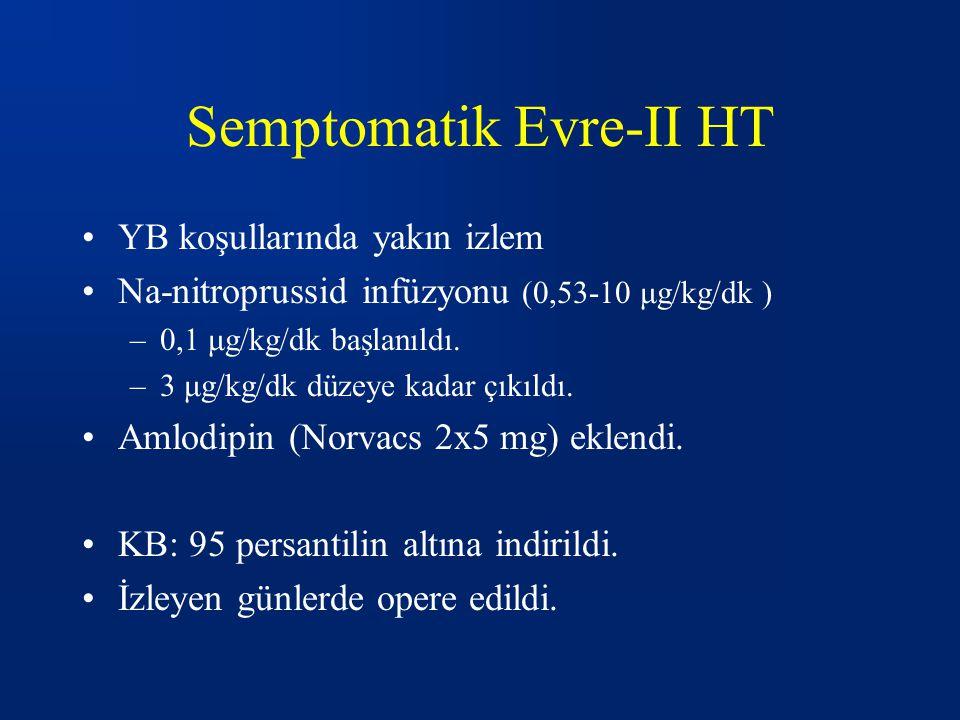 Semptomatik Evre-II HT