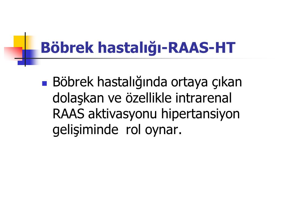 Böbrek hastalığı-RAAS-HT
