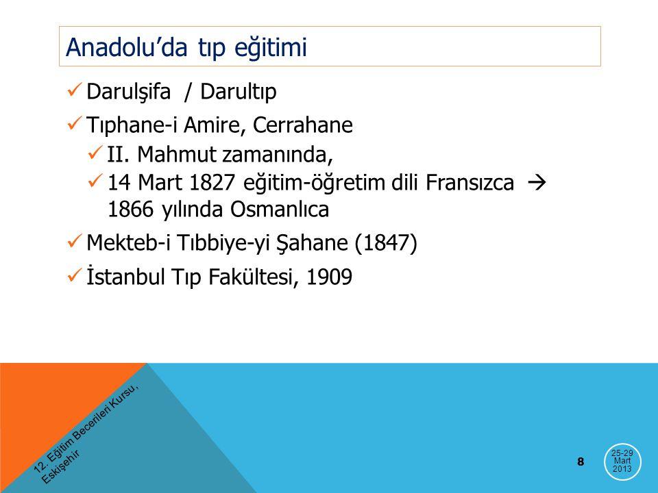 Anadolu'da tıp eğitimi