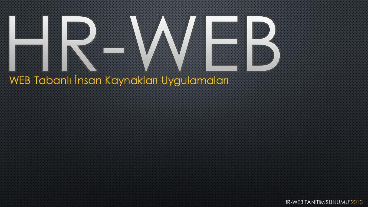 HR-WEB TANITIM SUNUMU'2013