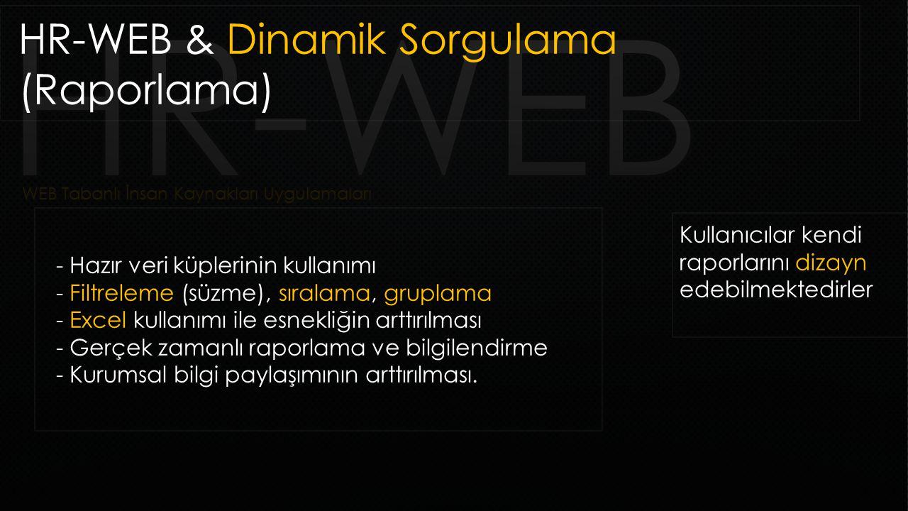 WEB Tabanlı İnsan Kaynakları Uygulamaları