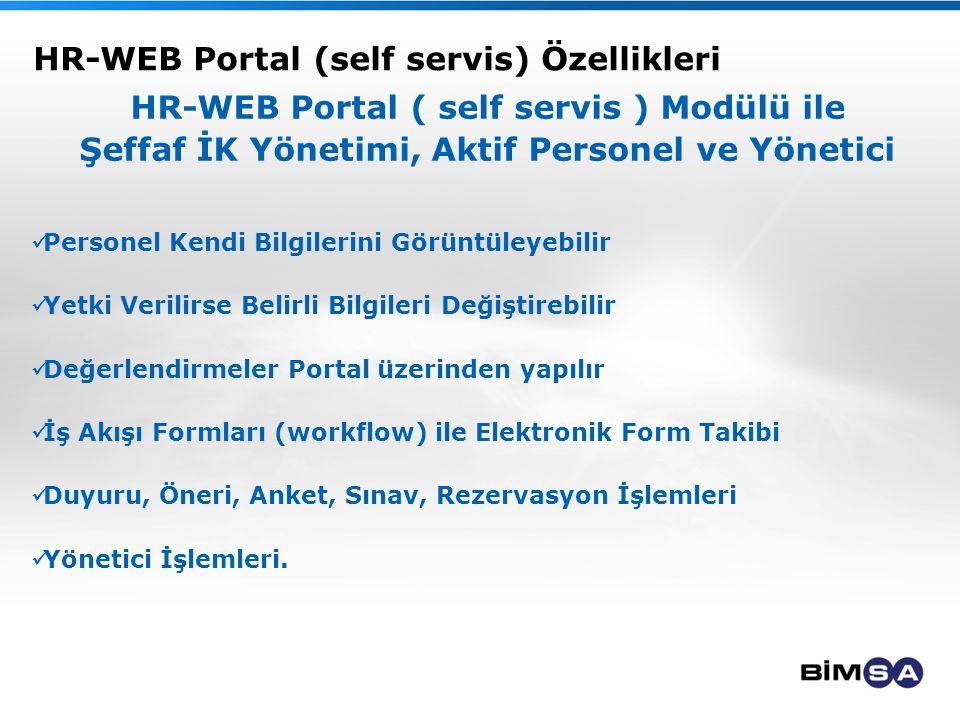 HR-WEB Portal (self servis) Özellikleri