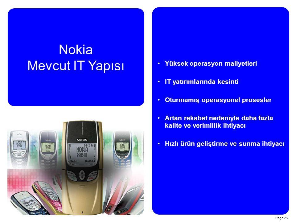 Nokia Mevcut IT Yapısı Yüksek operasyon maliyetleri