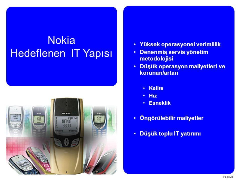 Nokia Hedeflenen IT Yapısı Yüksek operasyonel verimlilik