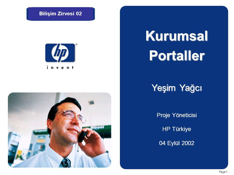 Kurumsal Portaller Yeşim Yağcı Proje Yöneticisi HP Türkiye