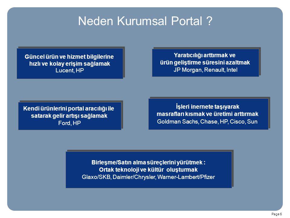Neden Kurumsal Portal Güncel ürün ve hizmet bilgilerine