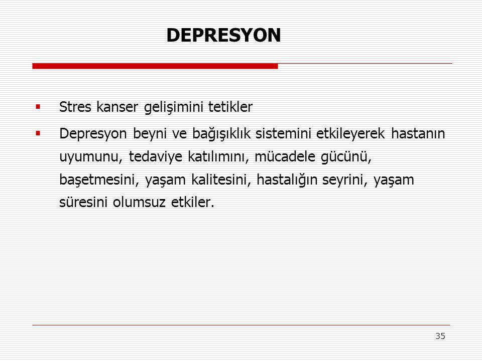 DEPRESYON Stres kanser gelişimini tetikler