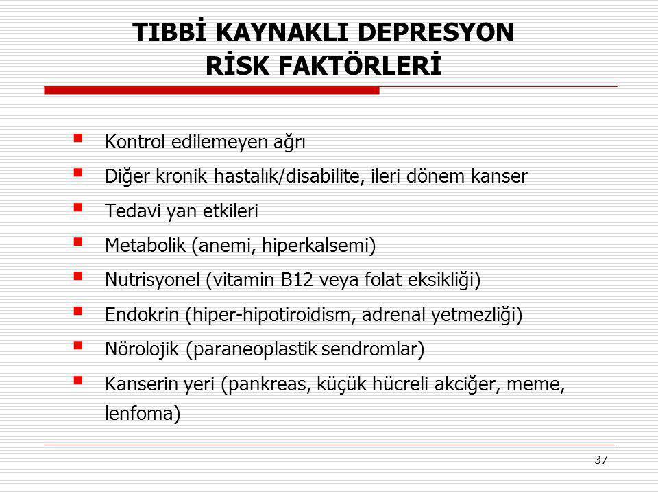 TIBBİ KAYNAKLI DEPRESYON