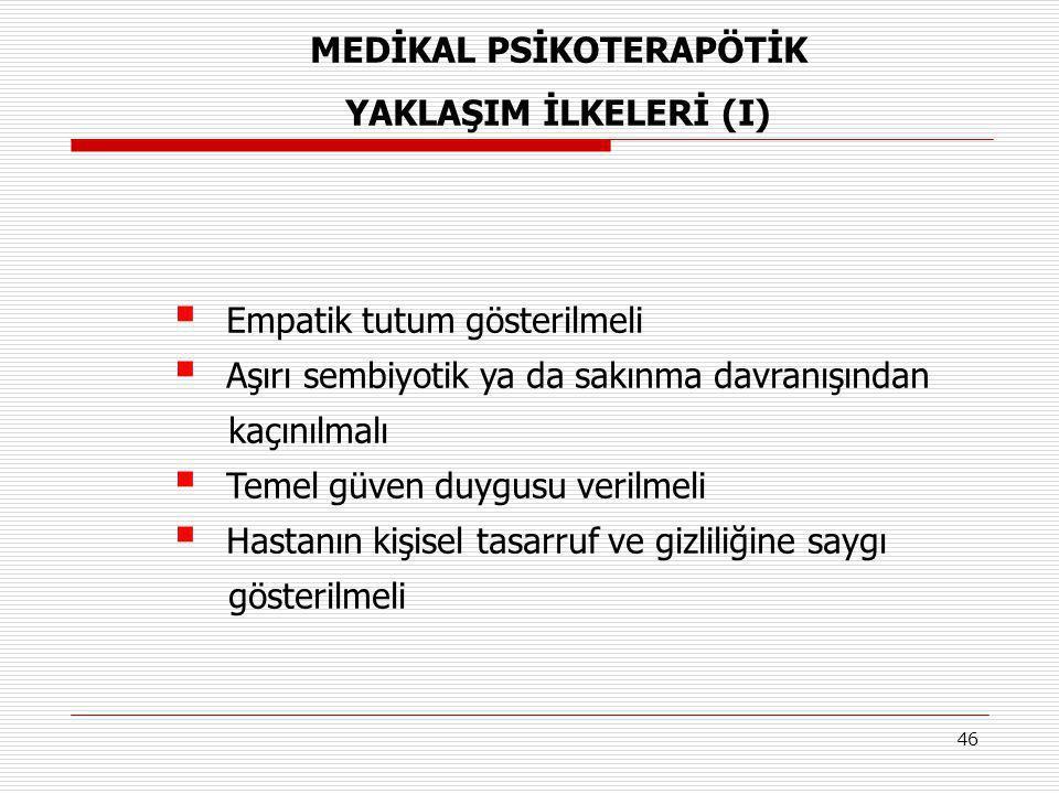 MEDİKAL PSİKOTERAPÖTİK